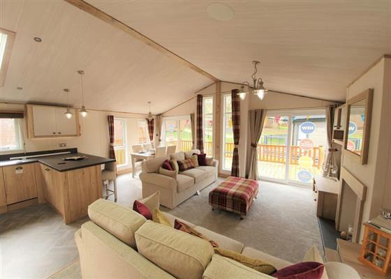 2 Bed Diamond Hot Tub Lodge at St Ives Holiday Village, Saint Ives
