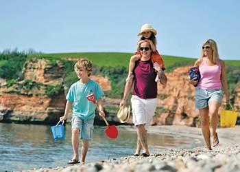 Family Fun Ladram Bay, Devon