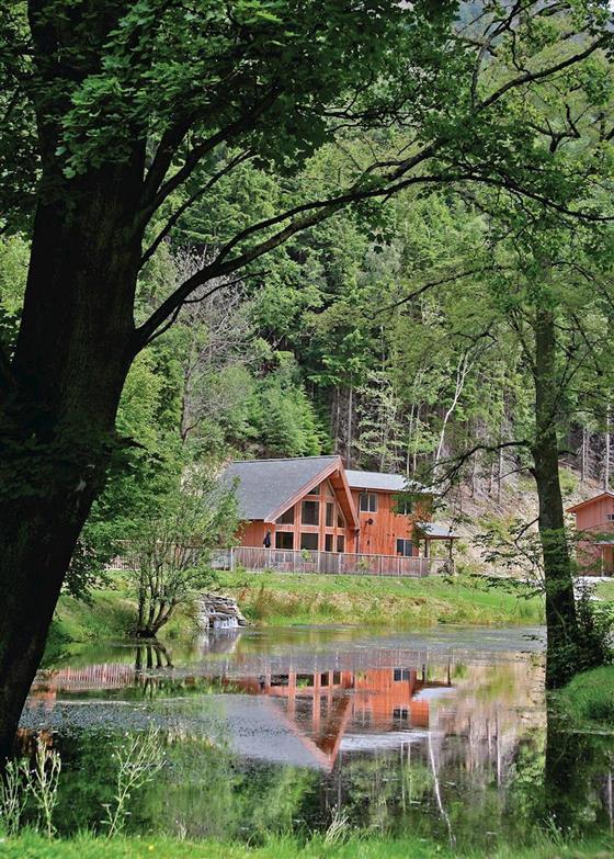 Birches Lodge VIP (Pet) at Penvale Lakes Lodges, Llangollen