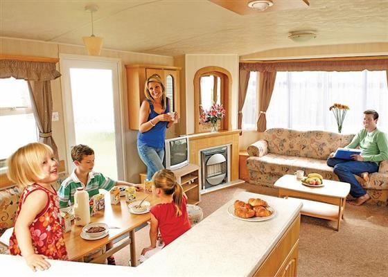 California Silver 2 Premier Caravan Sleeps 6 at California Cliffs, Great Yarmouth
