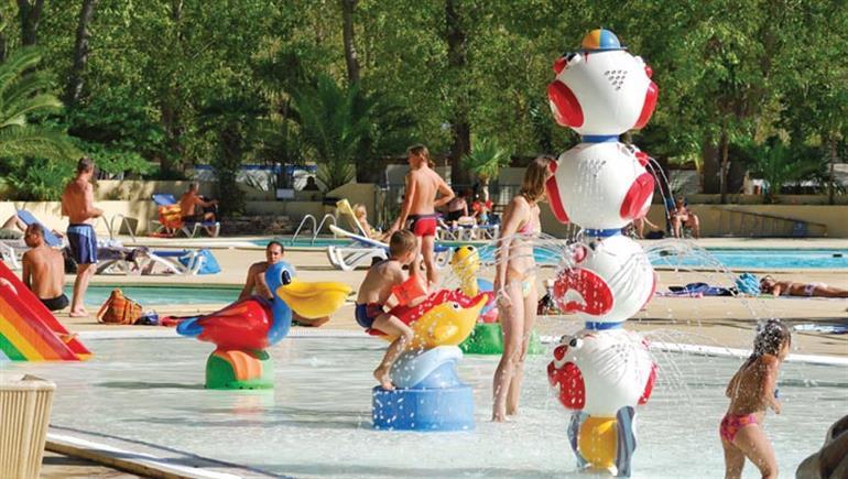 Children's play area at Domaine de la Yole in France