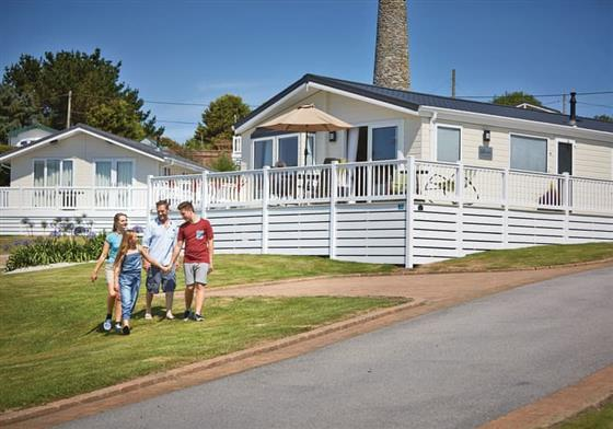 Comfort Lodge 4 at Praa Sands Holiday Park, Penzance