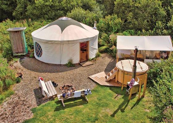 Florence Spring Yurt at Florence Springs Glamping, Tenby