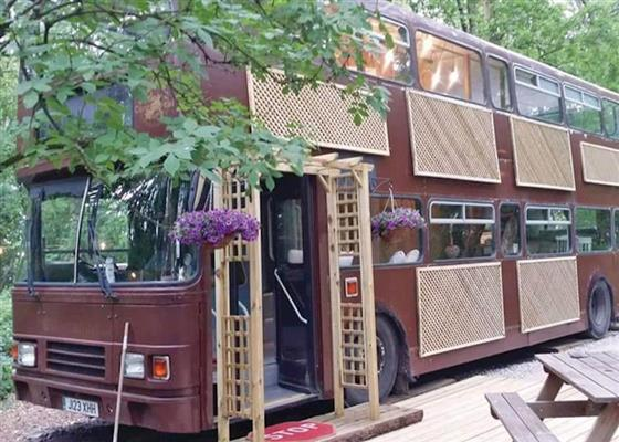 Glamping Bus at Angrove Country Park, Middlesbrough