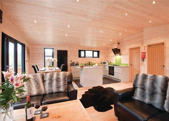 Goldcrest VIP Lodge at Ashlea Pools Country Park, Bucknell