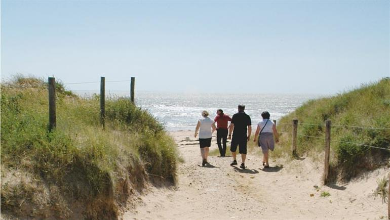 Head to the beach at Camping la Foret, St Jean Plage in Vendee