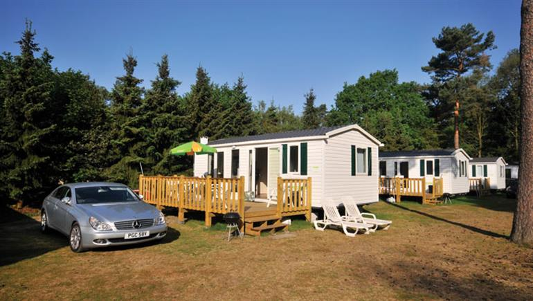 Holiday accommodation at Beekse Bergen Campsite, Hilvarenbeek in Holland