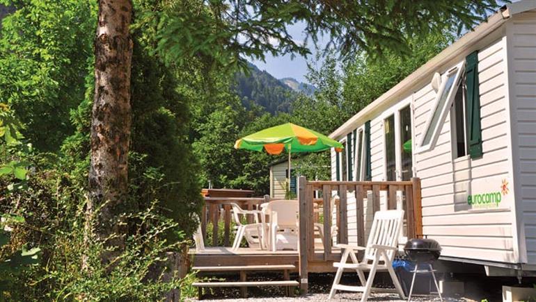 Holidya home at Camping Jungfrau in Switzerland