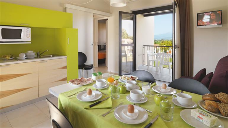 Inside a holiday home at Belvedere Village Apartments in Castelnuovo del Garda, Italy