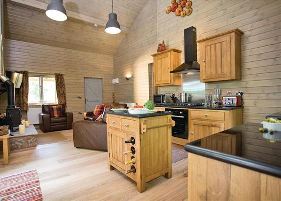 Kingfisher Lodge at Henlle Hall Woodland Lodges, Oswestry