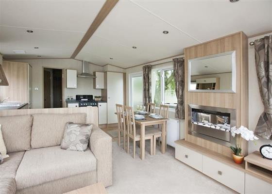 Landguard Gold 3 Lodge sleeps 6 at Landguard Holiday Park, Shanklin