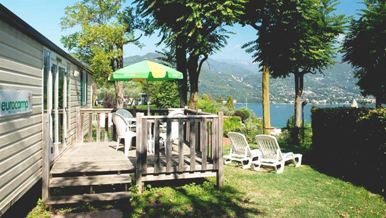 One of the holiday homes at Eden Campsite, Portese Lake Garda