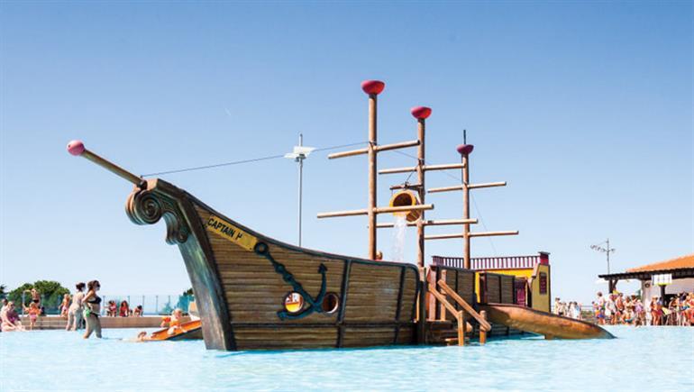 One of the swimming pools at Park Umag campsite in Istria, Croatia