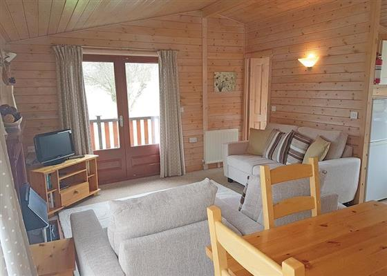 Pine Lodge at Llwyngwair Manor Holiday Park, Newport