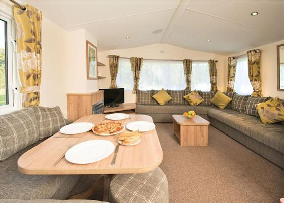 Platinum Caravan at Widemouth Bay Caravan Park, Bude