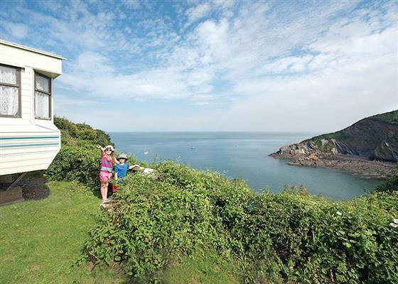 SA 2 Bed Budget Caravan pet at Sandaway Beach Holiday Park, Ilfracombe