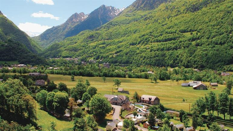 Setting of Airotel Pyrenees Campsite in Luz St Sauveur in France