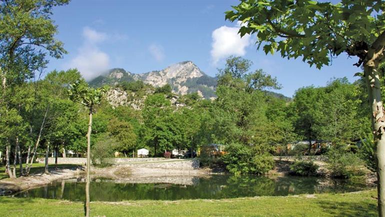 Setting of Domaine du Verdon Campsite in Castellane Riviera & Provence