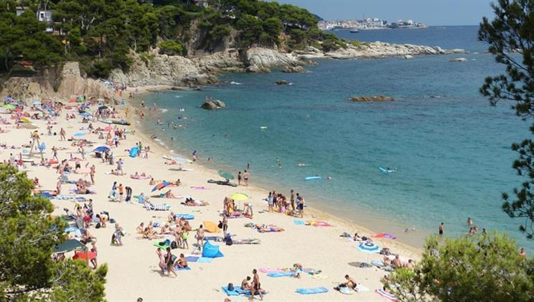 Setting of Internacional de Calonge Campsite, Playa d'Aro Costa Brava