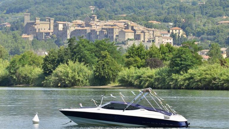Setting of Lido Camping Village in Lake Bolsena, Italy