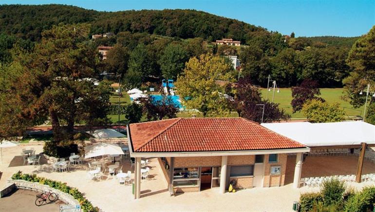 Setting of Parco delle Piscine Campsite in Sarteano, Italy