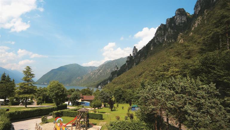 Setting of Rio Vantone Campsite in Lake Idro Lake Garda - Italy