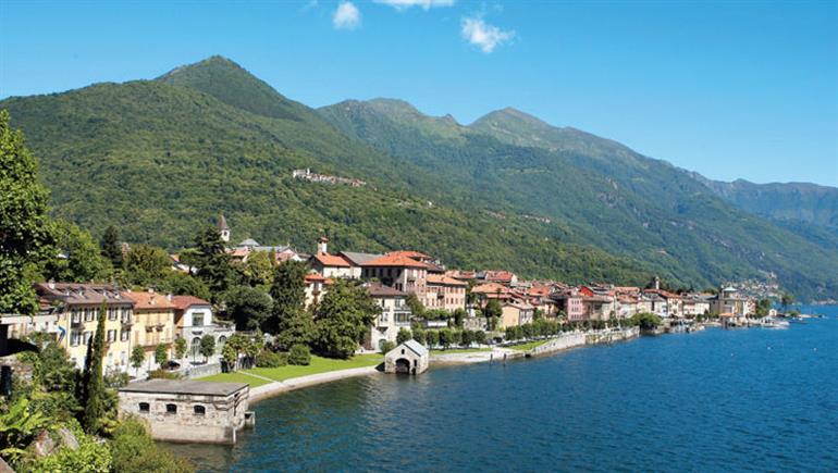 Setting of Valle Romantica Campsite in Lake Maggiore Lake Garda, Italy