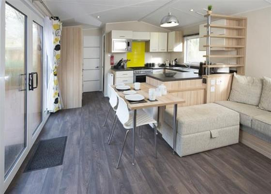 SI 2 Bed Silver Caravan Lodge (Pet) at St Ives Holiday Village, Saint Ives