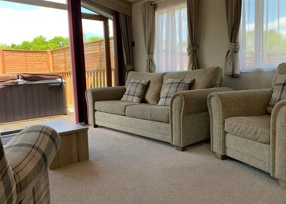 Superior Holiday Home (Newest) at Praa Sands Holiday Park, Penzance