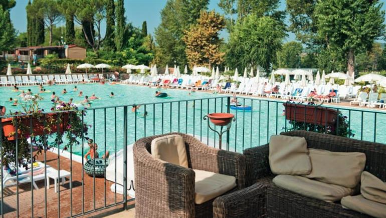 Swimming pool at Altomincio Family Park, Salionze Lake Garda