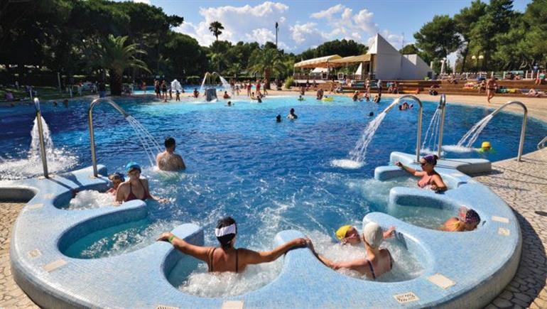 Swimming pool at Baia Domizia Campsite, Baia Domizia, Italy