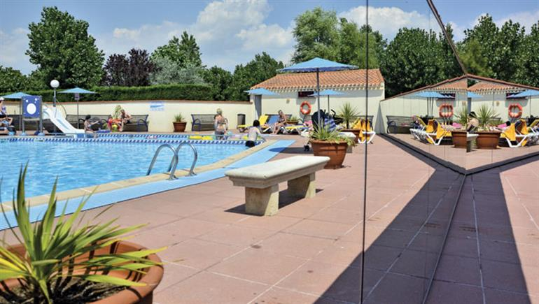 Swimming pool at Bel campsite in Vendee