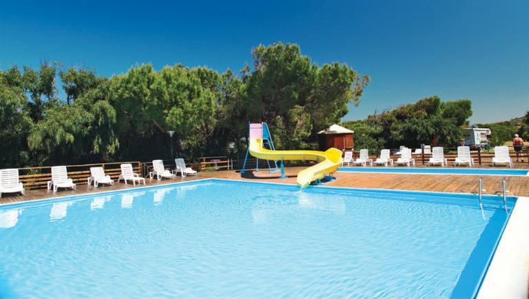 Swimming pool at Bella Sardinia campsite, Oristano, Sardinia