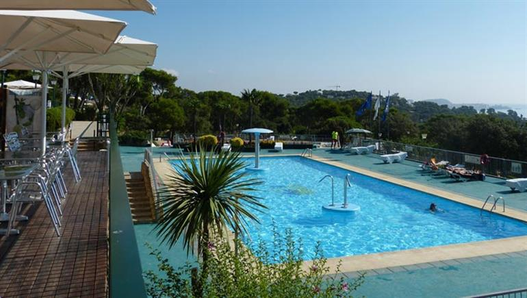 Swimming pool at Cala Gogo Campsite, Playa d'Aro Costa Brava