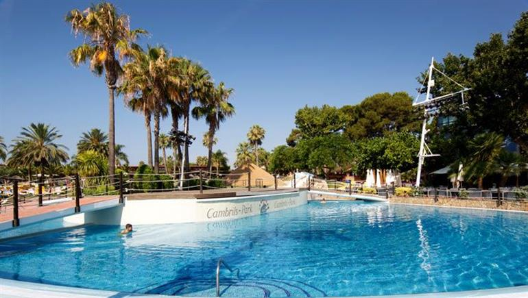 Swimming pool at Cambrils Park, Salou Costa Dorada