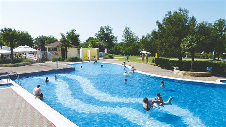 Swimming pool at Camp Lanterna campsite, Porec