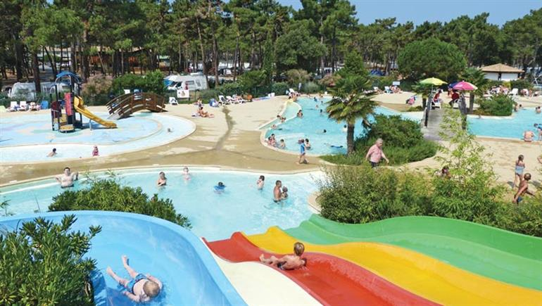 Swimming pool at Cote D'Argent, Hourtin Plage, France