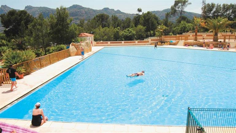 Swimming pool at Domaine de la Noguiere Campsite, Le Muy in France
