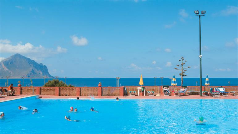 Swimming pool at El Bahira Campsite, San Vito lo Capo Sicily