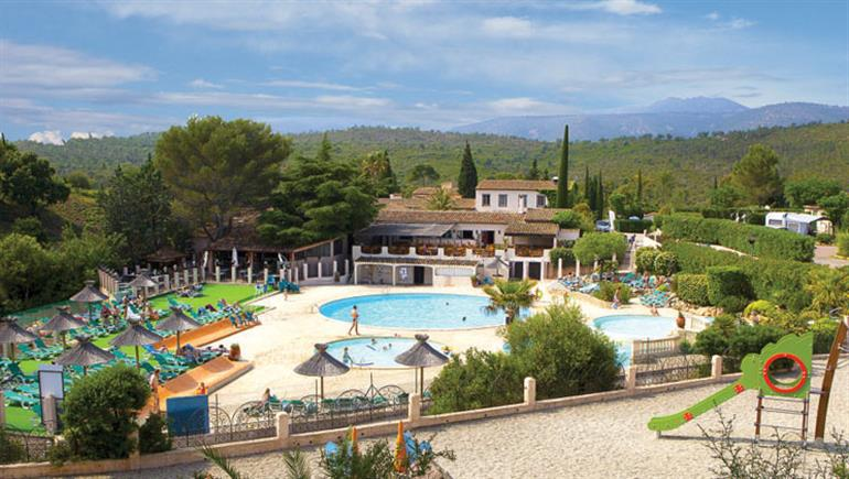 Swimming pool at Esterel campsite, France