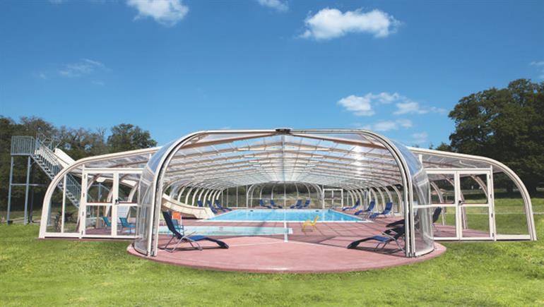Swimming pool at La Foret, St Julien-des-Landes in Vendee