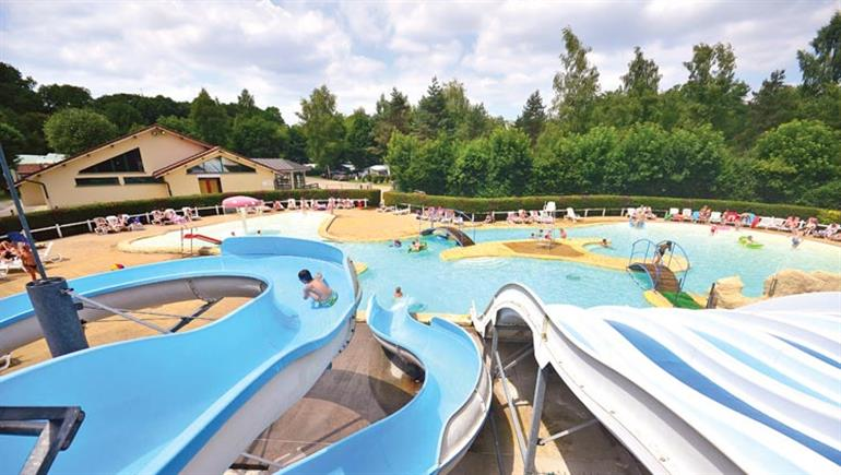 Swimming pool at Le Val de Bonnal campsite, Rougemont Jura