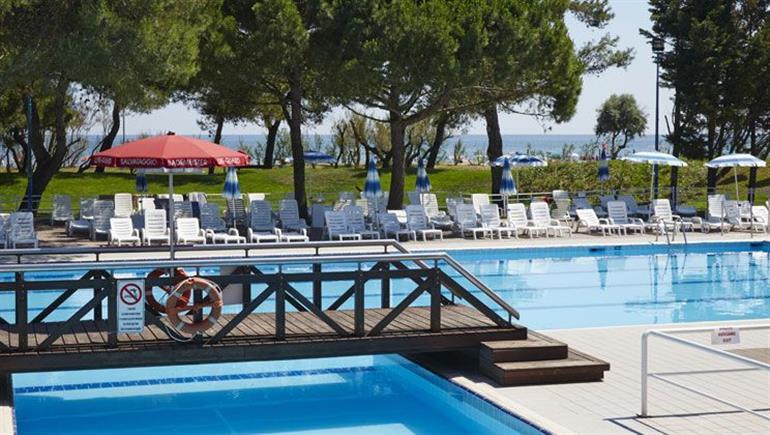 Swimming pool at Mediterraneo Campsite, Cavallino-Treporti Adriatic