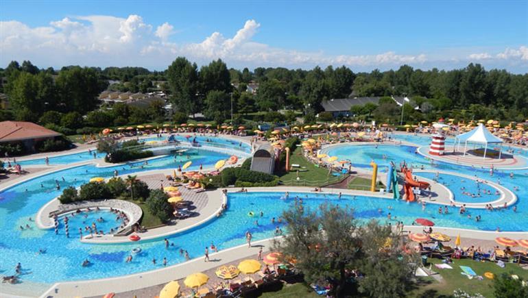 Swimming pool at Pra Delle Torri Campsite, Caorle Adriatic
