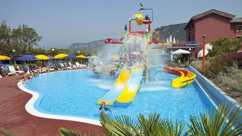Swimming pool at Serenella Campsite, Bardolino in Italy