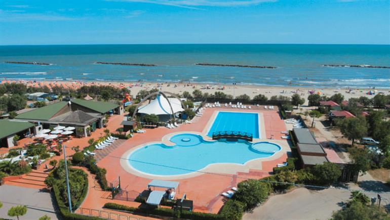 Swimming pool at Spiaggia E Mare, Adriatic in Italy