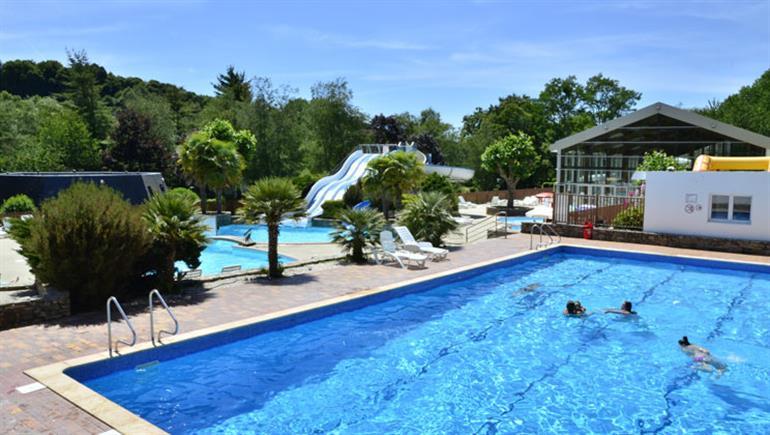 Swimming pool at Ty Nadan campsite, Arzano Brittany