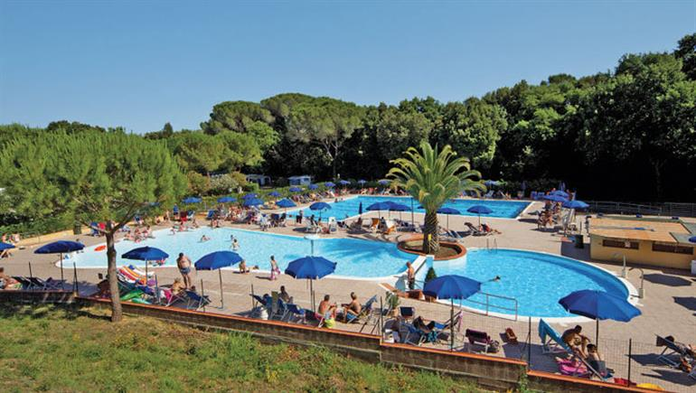 Swimming pool at Valle Gaia, Cecina