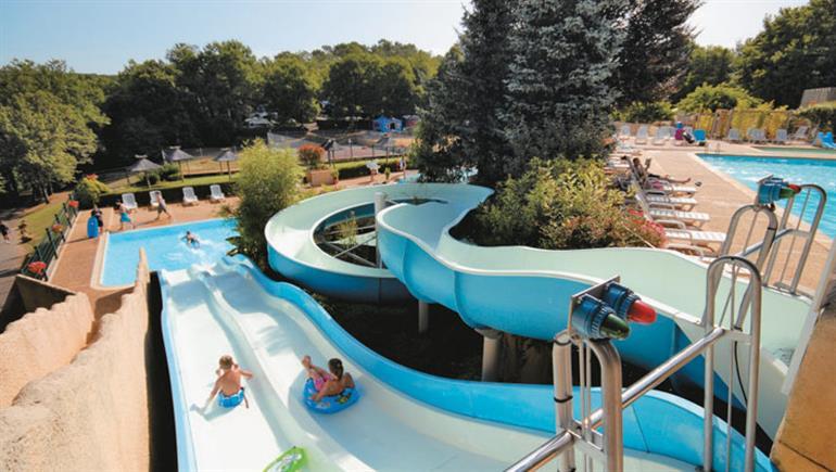 Water slide at La Palombiere, France