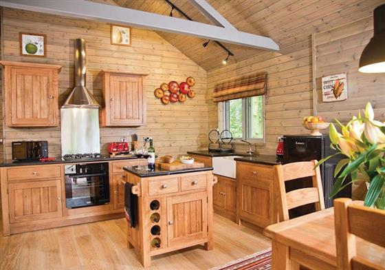 Woodpecker Lodge at Henlle Hall Woodland Lodges, Oswestry